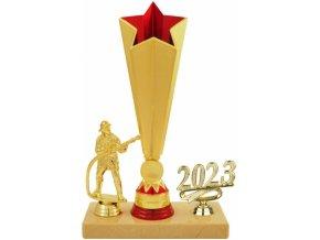 Trofej hasič zlatočervená