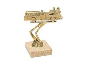 Figurka zlatá hasičské auto