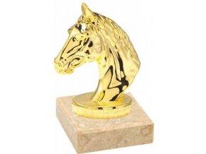 Figurka zlatá koňská hlava