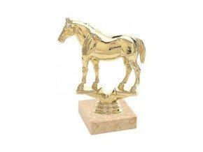 Figurka zlatá kůň