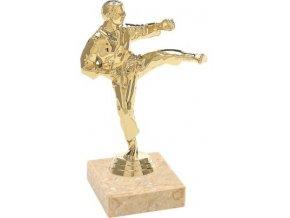 Figurka zlatá karate