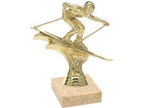 Figurka zlatá lyžování