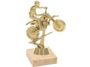 Figurka zlatá motokros