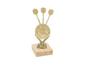 Figurka zlatá šipky s terčem