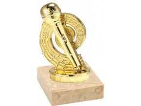 Figurka zlatá mikrofon