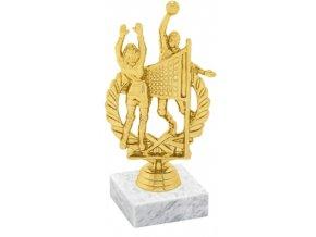Figurka zlatá volejbal dvojice