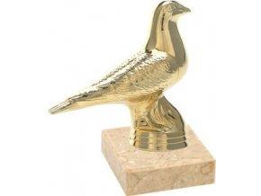 Figurka zlatá holub