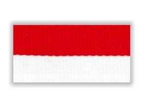 Stuha s karabinou V2BC - bílá červená