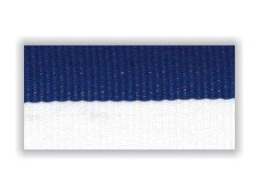 Stuha s karabinou V2BM - bílá modrá