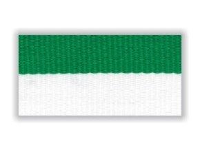 Stuha s karabinou V2BZ - bílá zelená