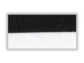 Stuha s karabinou V2CB - černá bílá
