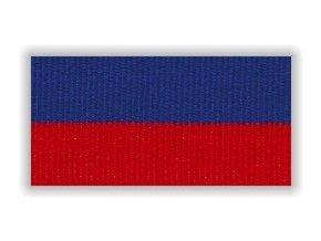 Stuha s karabinou V2MC - modrá červená