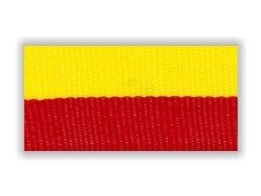 Stuha s karabinou V2ZC - žlutá červená