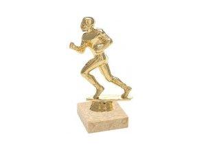 Figurka zlatá americký fotbal
