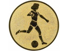 Emblém fotbal žena