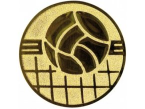 Emblém volejbal míč+síť