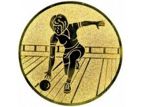 Emblém bowling,kuželky žena
