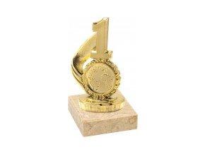 Figurka zlatá číslice 1
