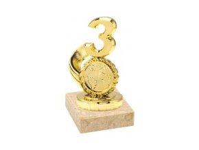 Figurka zlatá číslice 3