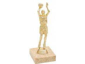 Figurka zlatá basketbal muž