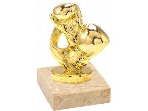 Figurka zlatá box