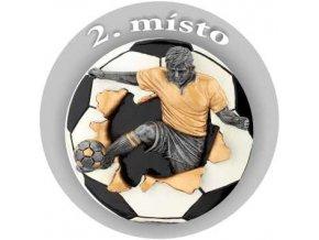 Emblém fotbal 2.místo