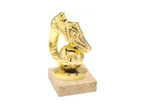 Figurka zlatá fotbalová kopačka