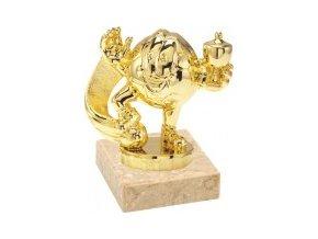 Figurka zlatá fotbalový míč