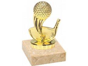 Figurka zlatá golf