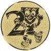 Emblém číslice 2 s panáčkem