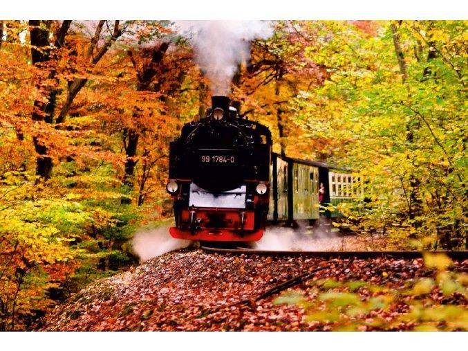 Vlak, jeseň