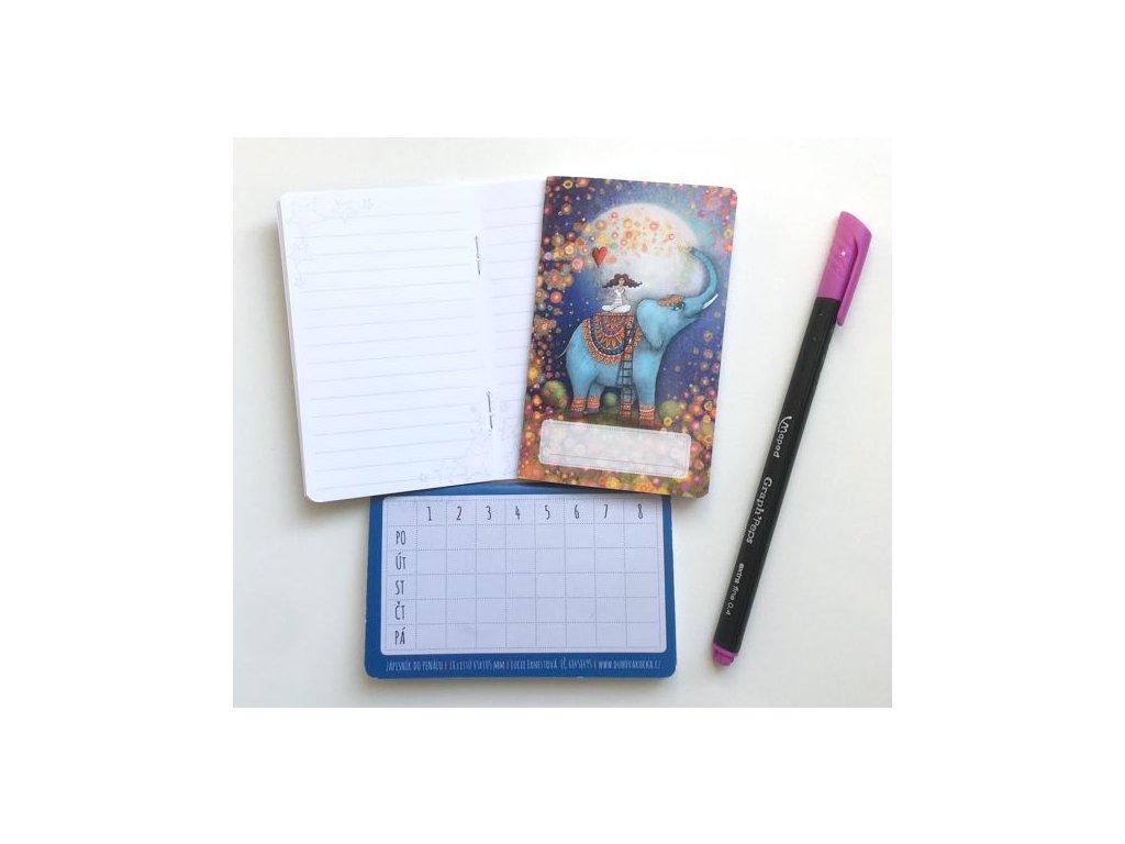 Mini zápisník Slon