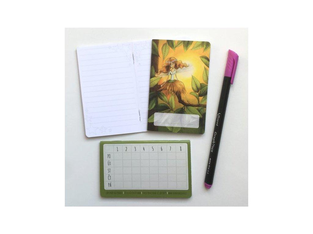 Mini zápisník Víla