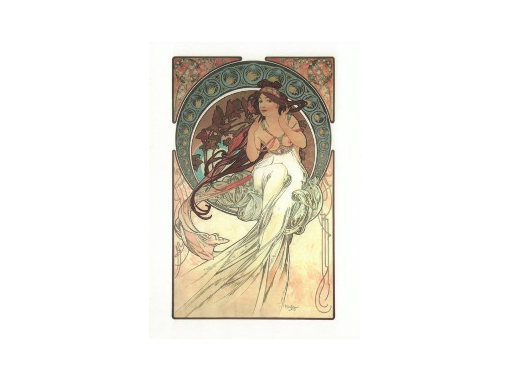 Pohlednice A. Mucha - Music