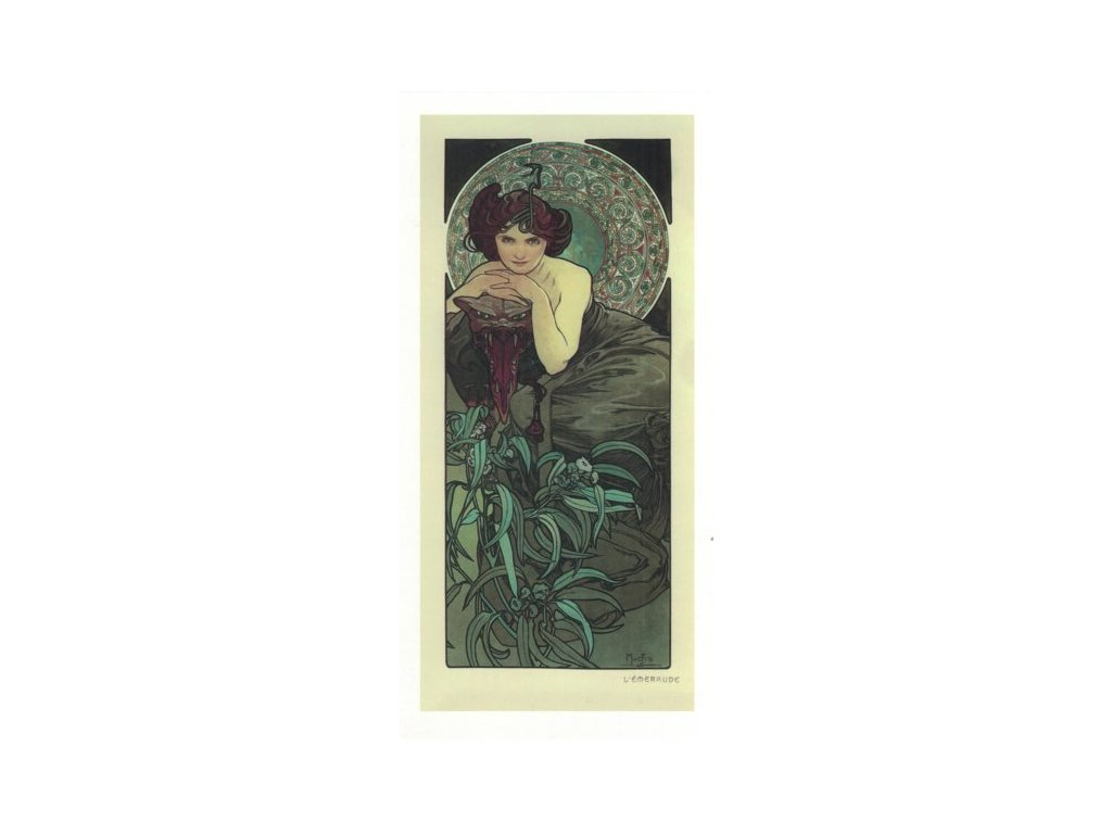 Pohlednice A. Mucha - Emerald