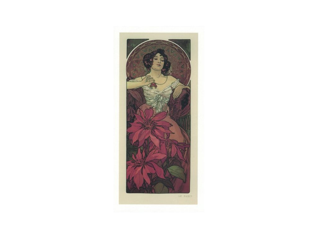 Pohlednice A. Mucha - Ruby