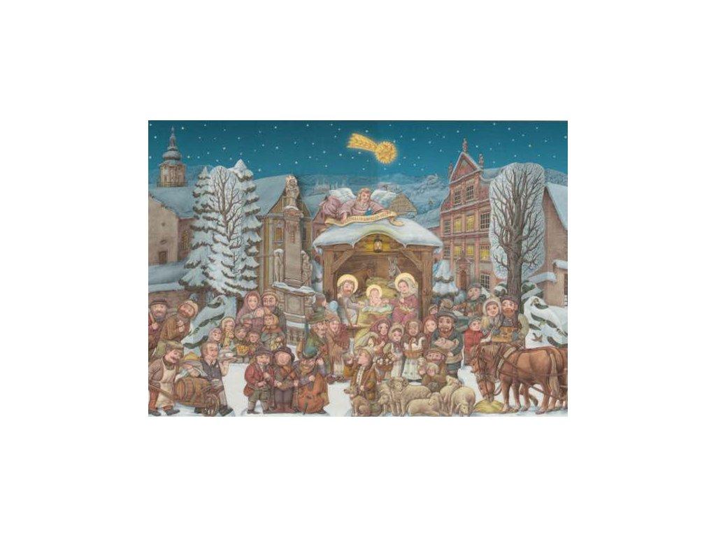 Pohlednice Vánoční betlém
