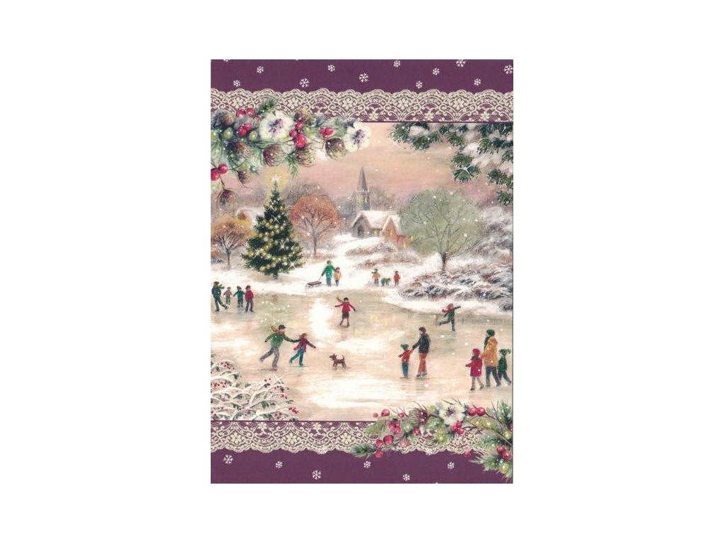 Pohlednice Vánoční - zimní radovánky