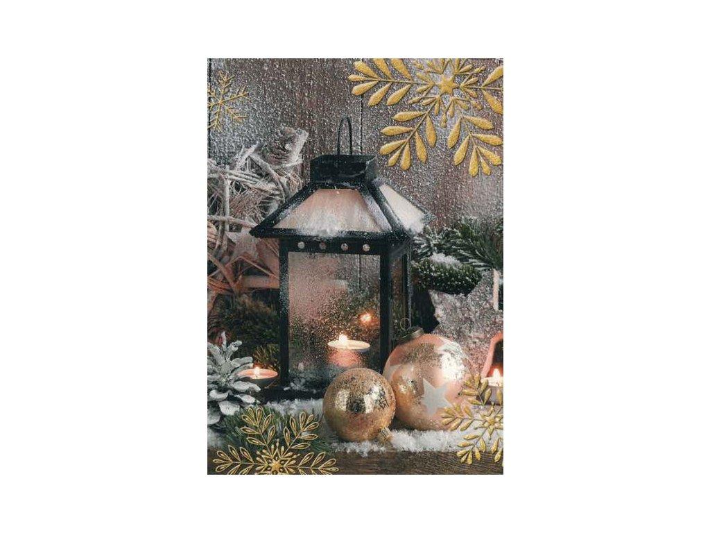 Pohlednice Vánoční lucerna