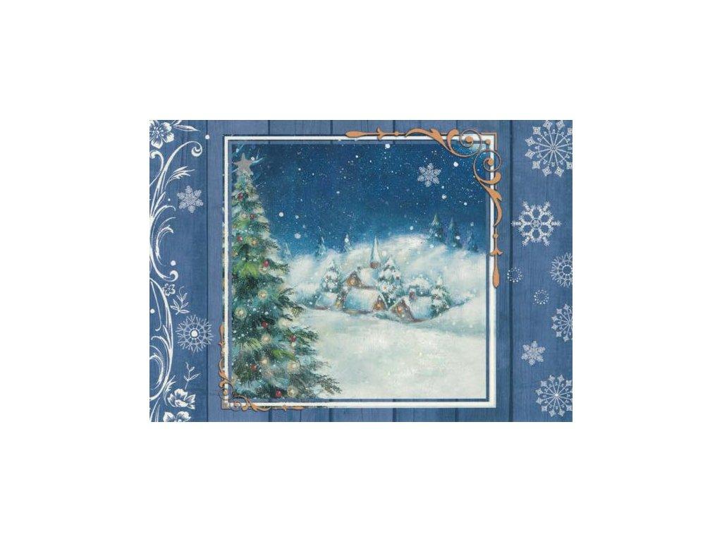 Pohlednice Vánoční vesnička