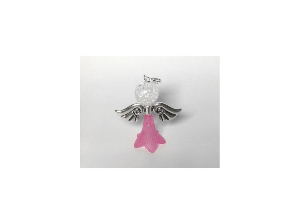 Andílek pro štěstí - růžový