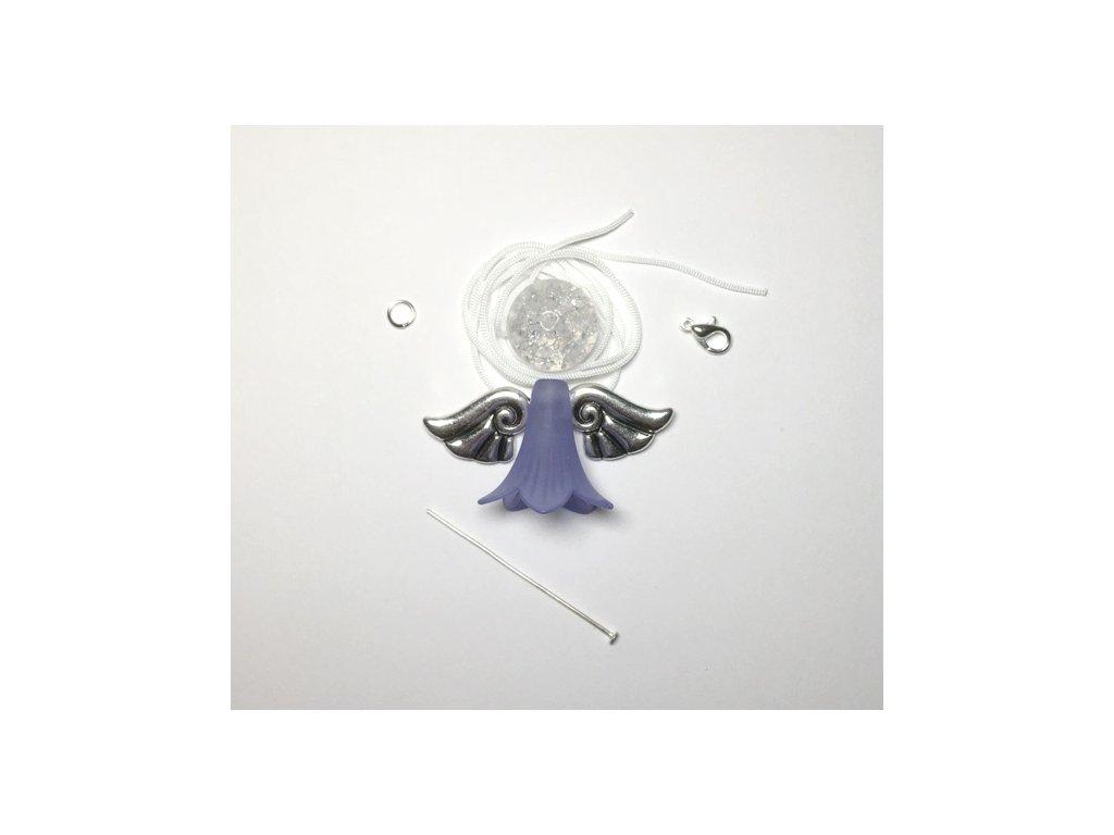 Andílek pro štěstí - fialový