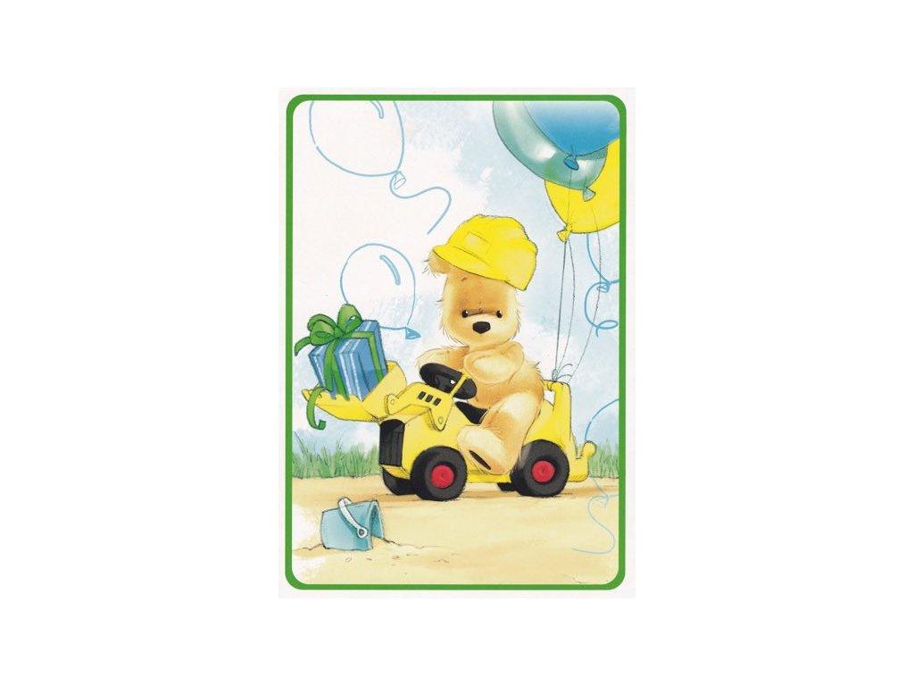 Pohlednice Traktorista medvídek