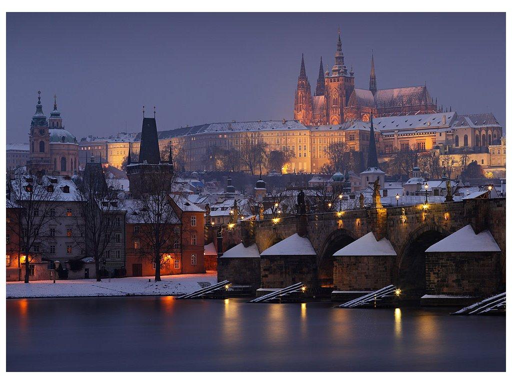 Pohlednice Pražský hrad v zimě