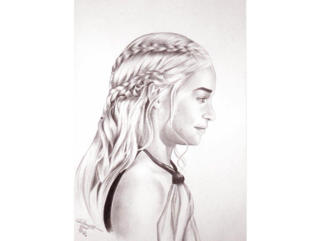 Pohlednice Daenerys Targaryen - Hra o trůny