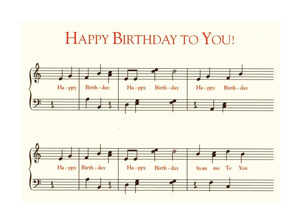 Pohlednice Happy Birthday noty