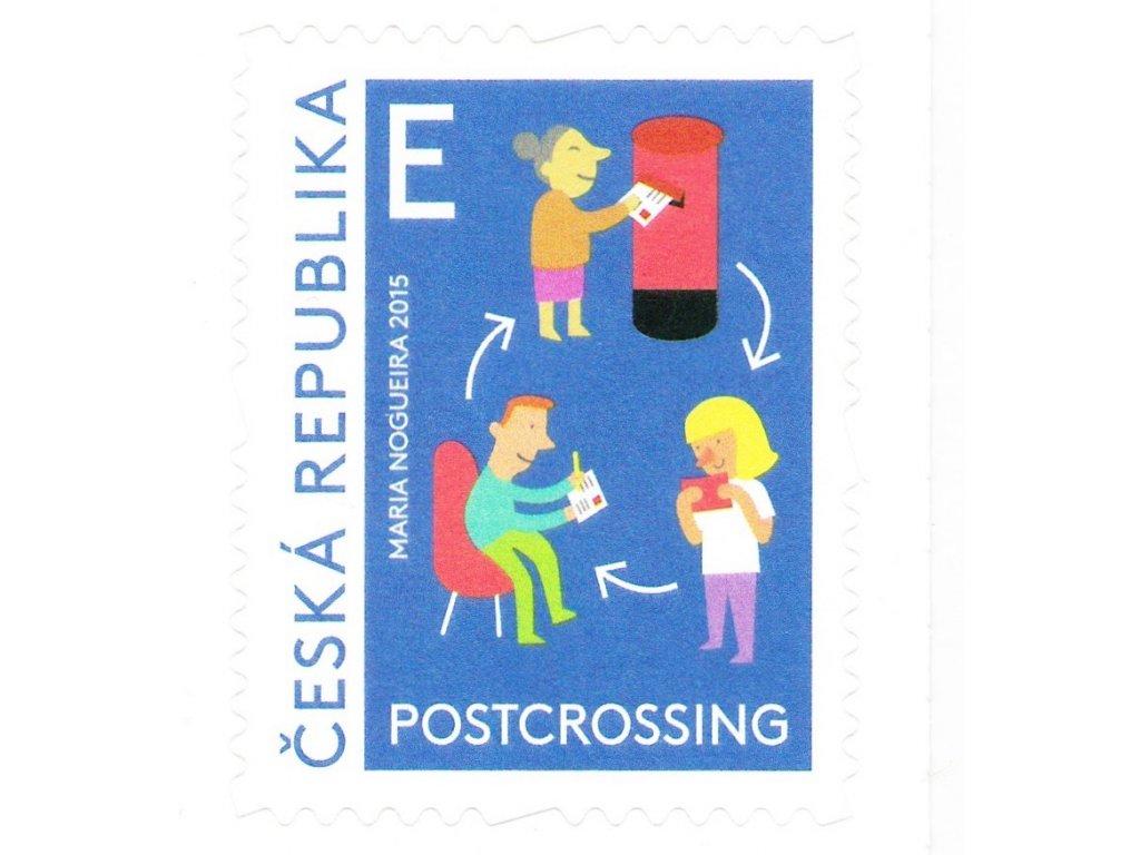 """Poštovní známky """"E"""" POSTCROSSING, 5 ks"""