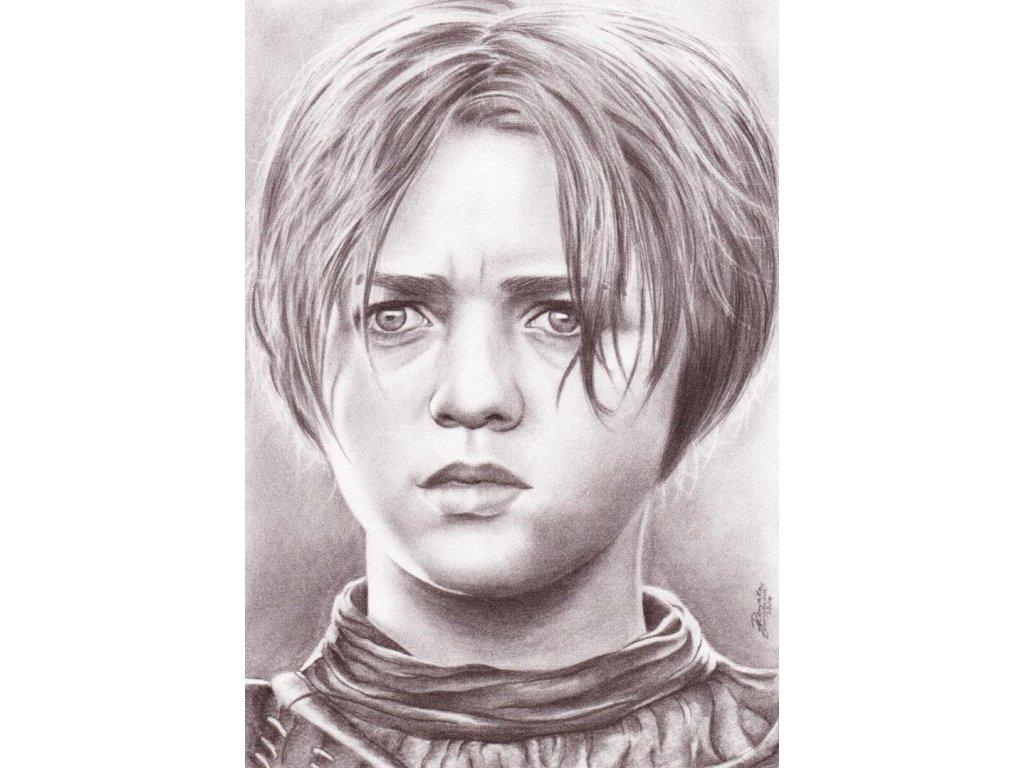 Pohlednice Arya Stark - Hra o trůny