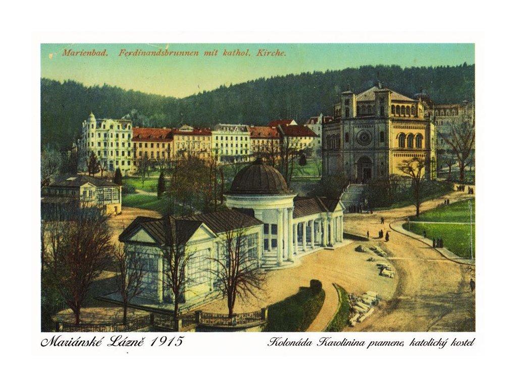 Pohlednice Mariánské Lázně - Kolonáda (1915)