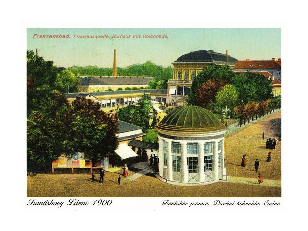 Pohlednice Františkovy Lázně (1900)
